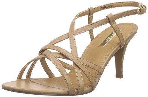 ESPRIT Dor Sandal, Damen Knöchelriemchen Sandalen, Braun (235 caramel), 42 EU