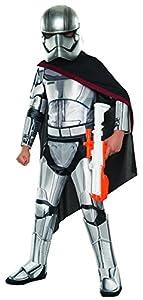 """Rubies El despertar de la fuerza Capitán Phasma Star Wars Super Deluxe-Disfraz-Disfraz, tamaño mediano, edad 5-7años, altura 4""""2""""-4""""6"""""""