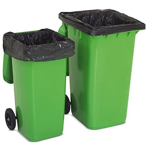 Strong Heavy Duty Black Refuse Rubbish Sack Liner Bags For Wheelie Bins. by The Chemical Hut