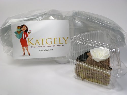 Katgely Pie Tart Cake Plastic Slice Portion Container 8-9 Round by Katgely Inc - 8 Slice Pie