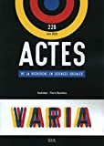 Actes de la recherche en sciences sociales numéro 228 Varia...
