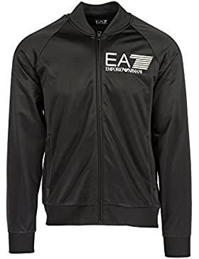 Emporio Armani EA7 felpa con zip uomo nero