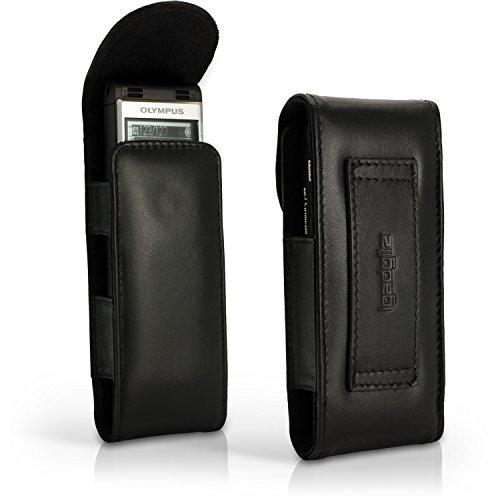 igadgitz u4333Schutzhülle aus Leder für Olympus Digital Voice Recorder ws-852ws-853–Schwarz