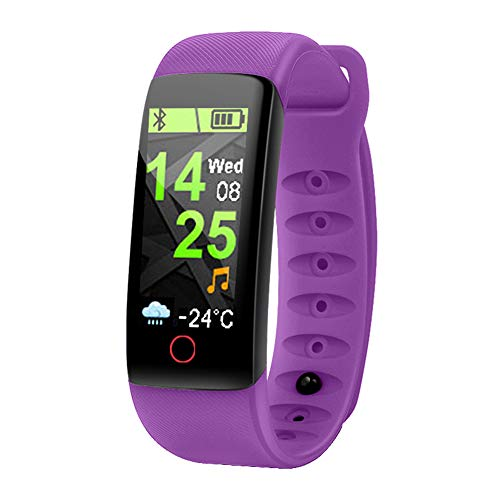 Xwly-ft Fitness Tracker Herzfrequenzüberwachung Überwachung Multiple Sports Funktionen Bluetooth Smart Bracelet IP67 Waterproof Watch Android/iOS,Purple