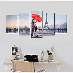 XIAOAIGE Mur Art Peinture Affiche Amoureux À Paris Imprimer Toile Photo pour Salon Décoration