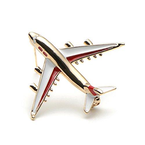 Schmuck Kostüm Pins - SODIAL Legierung Flugzeug Brosche Pins Emaille Rot Flugzeug Luxus Broschen fuer Frauen Kostueme Flugzeug Brosche