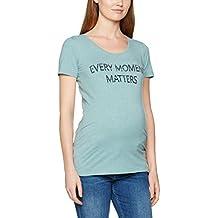 MAMALICIOUS Mlellie S/S Jersey Top a V, Camisa para Mujer
