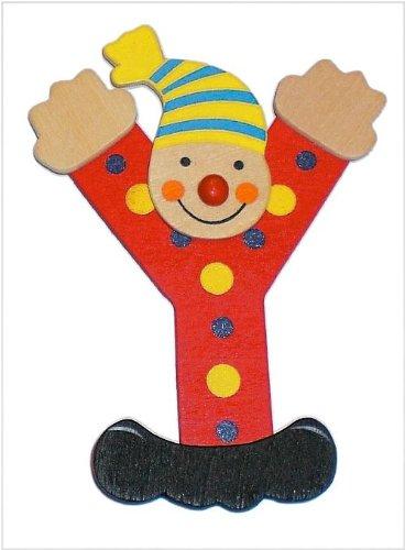 Inware 22207 - Holzbuchstabe Y, Clown Design