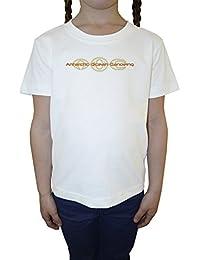 Antartic Ocean Niña Niños Camiseta Cuello Redondo Blanco Algodón Manga Corta Girls Kids T-shirt White