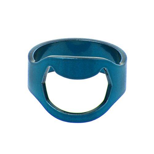 ehering gehaemmert Kofun Ring, 5 Stück Glänzend Crystal Moon Star Vollständig Eingelegter Kubischer Zirkon Finger Knuckles Ring Set Blau