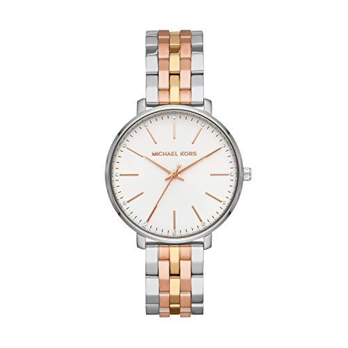 Michael Kors Zwei Töne Silber und Gold Edelstahl Damen Armbanduhr- MK3901