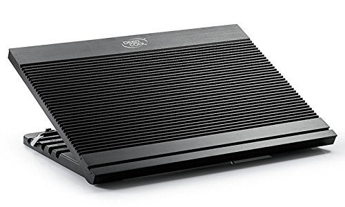 DEEPCOOL N9 Laptop kühler,Aluminiumplatte,6 Einstellbarer Betrachtungswinkel,3 USB-Anschlüsse,12