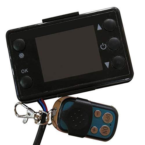 12 V / 24 V 3 / 5KW LCD Monitor Standheizung Schalter Auto Heizung Gerät Controller Universal für Auto Track Lufterhitzer (schwarz)