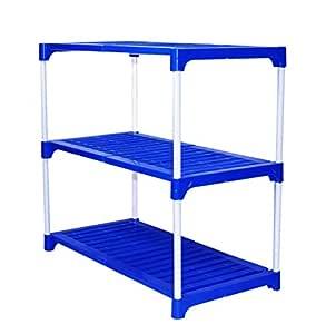 !! INAUGARAL Offer Savya home® Multipurpose Rack 3 Shelves Book Shelf Shoe Rack (3 Shelf)