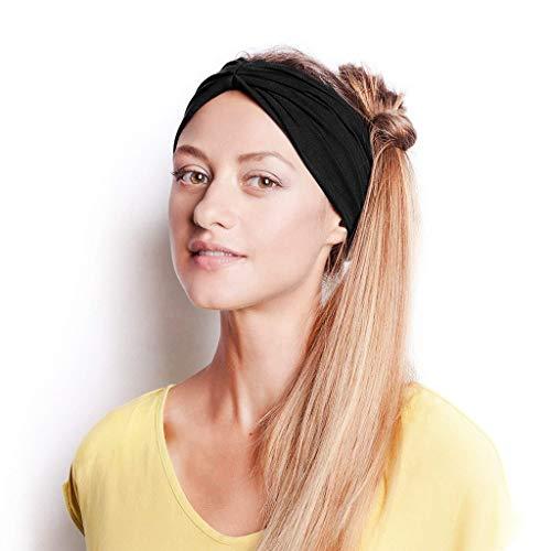 (Beudylihy Mehrfarbig Kopfband Haarspange Fliege Schleife für Damen Kopfband Haarband Elastisch Weich Verdreht Stirnband Kopfbedeckung für Alltag Yoga Sport)
