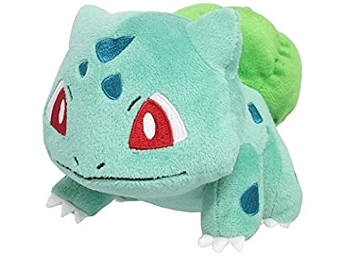 Sanei Pokemon All Star Series PP17 Bulbasaur Stuffed Plush, 4
