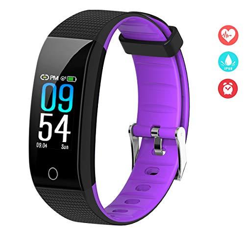 EFO SHM Fitness Armband Blutdruck Fitness Tracker Wasserdicht IP68 Schrittzähler Sport Uhr Aktivitätstracker Stoppuhr Pulsmesser Damen Herren Anruf SMS Vibrationsalarm für Handy