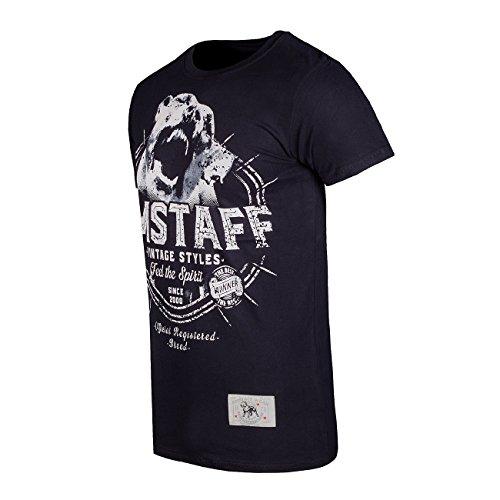 Amstaff Vintage Neres T-Shirt Schwarz