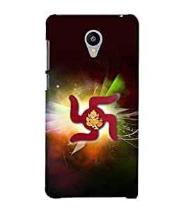 printtech Lord God Ganesha Swastik Back Case Cover for Meizu m2 note