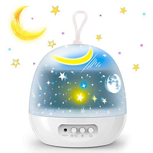 Luci notturne per bambini, Proiettore per luce notturna, Lampade decorative per la casa, Baby Nursery Mood Night Lamp For Baby Bambini Bambini Ragazze Ragazzi Adulti Camera da letto (white)