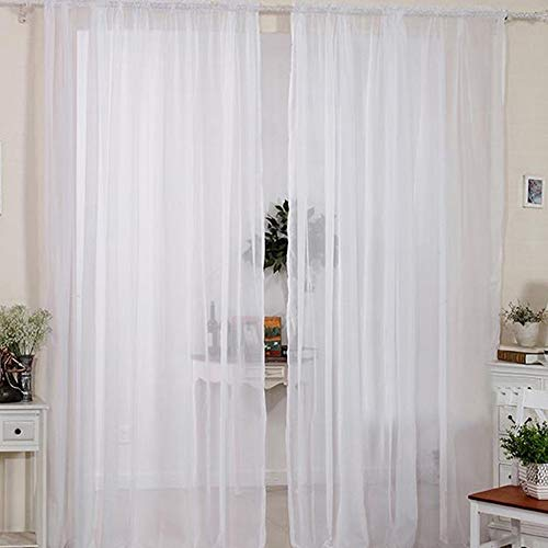 2pcs cortinas visillo decoración ventana visillo