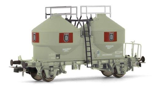rivarossi-hr6123-modelisme-ferroviaire-set-2-wagons-plat-kbs-charges-detraverses-en-beton-bleu