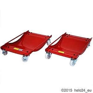 helo 2er set rangierrollys f r pkw als rangier und transporthilfe baumarkt. Black Bedroom Furniture Sets. Home Design Ideas