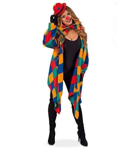 Kostüm Narren Lady Und - KarnevalsTeufel Kostüm-Set Clown 5-teilig Weste mit passender Schleife und Mini-Melone, Handschuhe und Clownsnase Spaßvogel Kasper