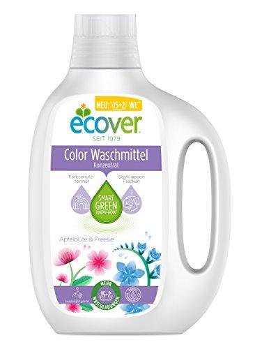 Ecover Color Waschmittel Konzentrat Apfelblüte & Freesie, 3er Pack(3 x 850 ml) (Konzentrat Waschmittel)