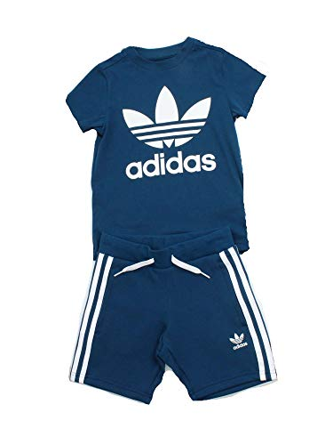 adidas Short Tee Set Apparel Others, Babys Baseballs L Blau/Weiß (Legend Marine/White) - Adidas Kordelzug Shorts