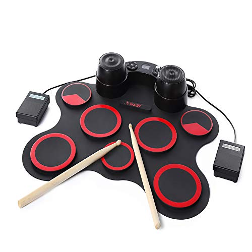 OLDF Children es Electronic Drum, Portable Electronic Roll Up Drum Pad, eingebauter Speaker Great Holiday Birthday Gift for Kids