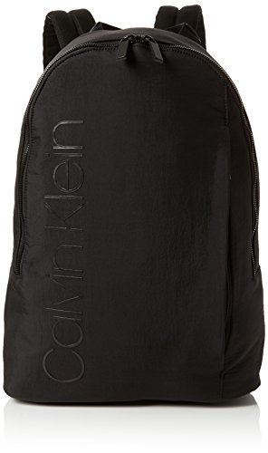 Calvin Klein Jeans - Strapped Backpack, Mochilas Hombre, Negro (Black), 14x46x32...