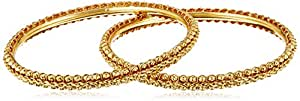Aheli Bangle Set for Women (Golden) (PFJB2449)