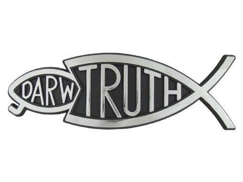 Christliche Stoßstange christliche Aufkleber Silber Wahrheit Fisch Darwin Fisch zu essen