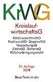 Kreislaufwirtschaftsgesetz (KrWG): mit Verordnungen, Verpackungsgesetz, Elektro- und Elektrogerätegesetz, Batteriegesetz, Abfallverbringungsrecht (dtv Beck Texte) - Martin Beckmann