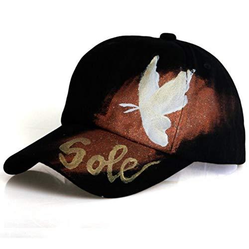 SKAMAO Baseballmütze Sohle Schmetterling Malerei Jean Baseballmütze Einstellbare Hip Hop Cap Freizeit Casual Snapback Hat -