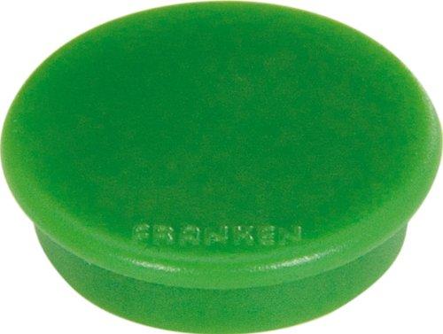 Preisvergleich Produktbild Franken HMS36 02 Magnet (Durchmesser 38 mm, Haftkraft 2500 g) 10 Stück, grün