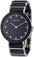 Bering Time Part Ceramic - Reloj de cuarzo para mujer, correa de diversos materiales multicolor de Bering Time