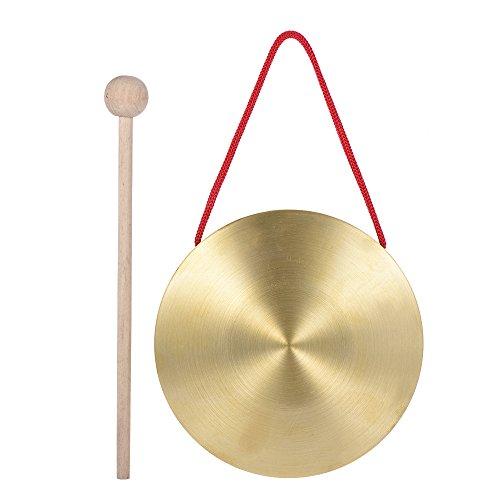 ammoon 15cm Hand Gong Becken Messing Kupfer Kapelle Opera Percussion Instrumente mit Rund Play Hammer 15cm