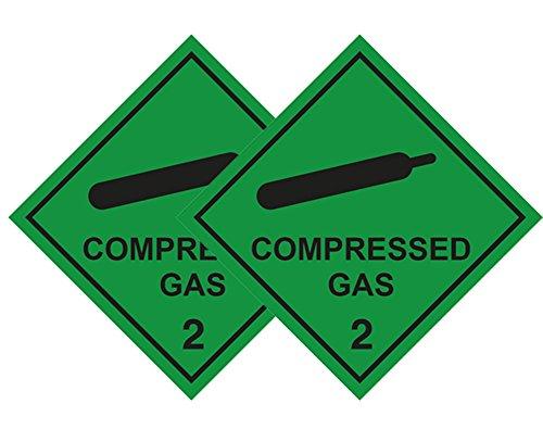 2 Stück Compressed Gas Auto Aufkleber für Sanitaeter, Krankenwagen Dekofigur, Ärzte, Medic, FIRST RESPONDER & Diver (Auto-aufkleber Arzt,)