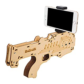 Gamepad 3D&4D AR Gun Smart game gun Green wood handle All-in-one machine &Apple &Android are in common use Relieve stress