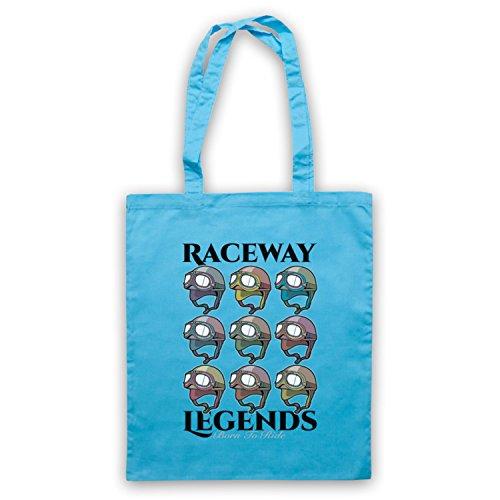 Raceway Legends Born To Ride Umhangetaschen Hellblau