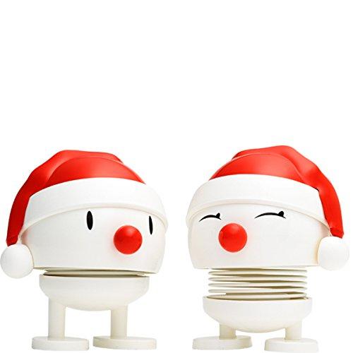 Hoptimist Baby Nosy Santa im Set, Weiß, Klein, Weihnachtsfiguren, 2er Pack