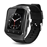 QHJ Smartwatch Phone, WiFi GPS 3G Smartwatch Phone Ultra Thin Mini Cell Phone (Schwarz)