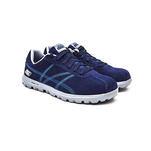 Skechers On The Go-Harbor 53722/NVY Herren Schnürhalbschuh sportlicher Boden sportliche Optik Marineblau (Veloursleder)
