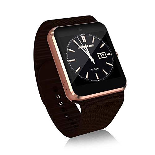 FOONEE Smart Voice Converter Armbanduhr mit 1,3 MP Kamera 480 mAh wiederaufladbarer Akku multifunktional 3G WLAN Smartwatch unterstützt TF-SIM-Karte, Spielen, Musik-Play und Telefonanrufe (Gold) -