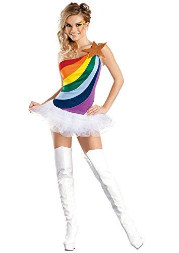 Babyicon Mädchen Regenbogen Cheerleader Verrücktes Kleid Kostüme Uniform Outfit