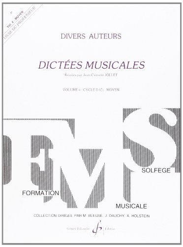 Dictes Musicales Volume 4 - Professeur