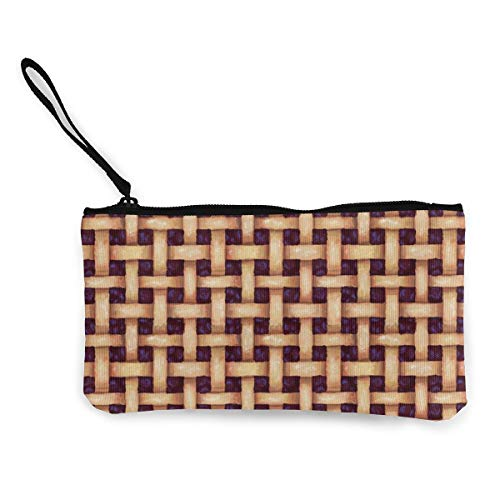 BlackBerry Pie Pattern Multifunctional Portable Canvas Coin Purse Phone Pouch Cosmetic Bag,Zippered Wristlets Bag (Wallet Passport Blackberry)