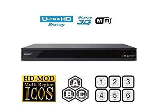 Sony UBP-X800 UHD Blu-ray Player, Multiregion Blu-ray & DVD Code-freier Blu-ray Player für Alle-Zonen-Wiedergabe. (Blu Region Ray Alle Dvd Player)